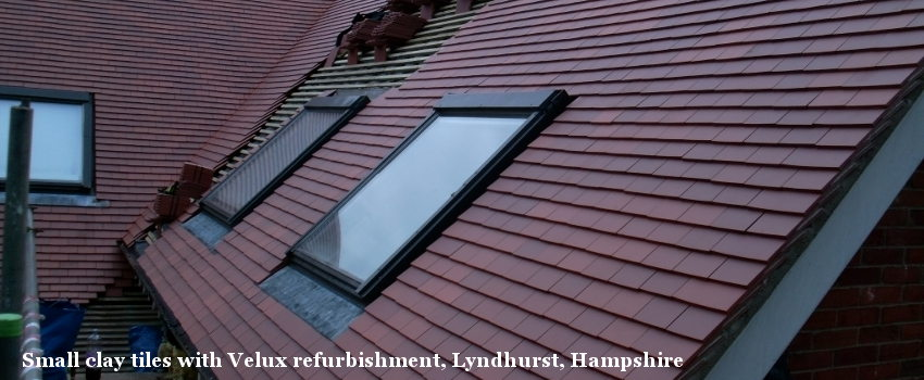 Small clay tiles with Velux refurbishment, Lyndhurst, Hampshire